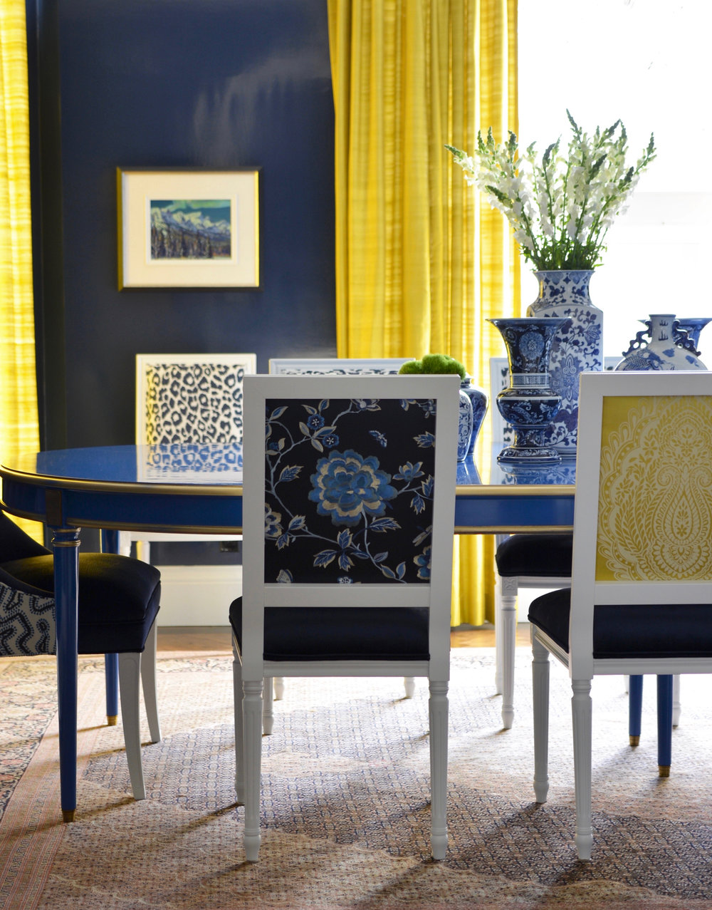 Meredith Heron custom designed dining room featured in her Pella panel discussion.  Modern Interior Design Trend: Color