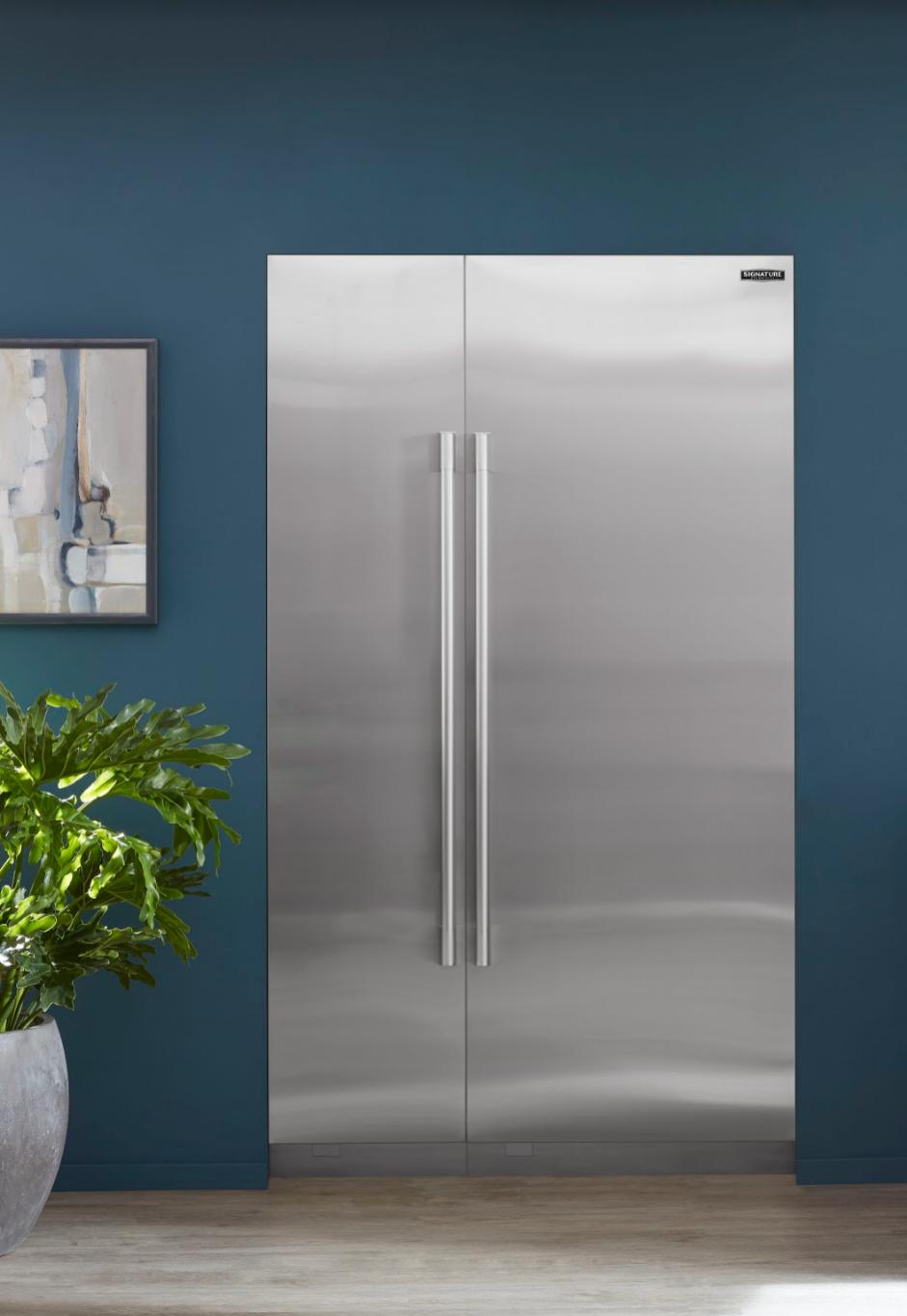 "Signature Kitchen Suite: Integrated Column 18"" Freezer and 30"" Refrigerator"
