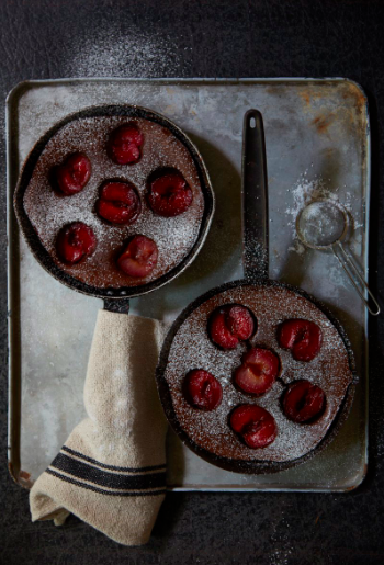 Chocolate Plum Kugel Cakes, Studiobstyle, Barbara Schmidt Creative Director