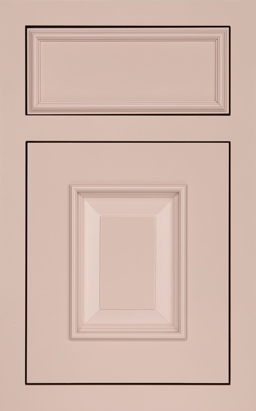 Medallion Cabinetry: Solare Collection, Devonshire Raised Panel Door in Maple with Blush Finish
