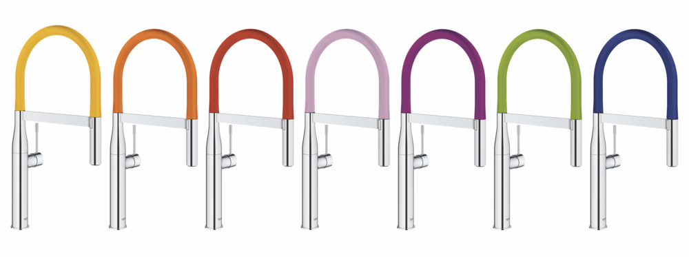 Lixil's Grohe Essence 30 Faucet available in over seven colors including white marble, black and gray.