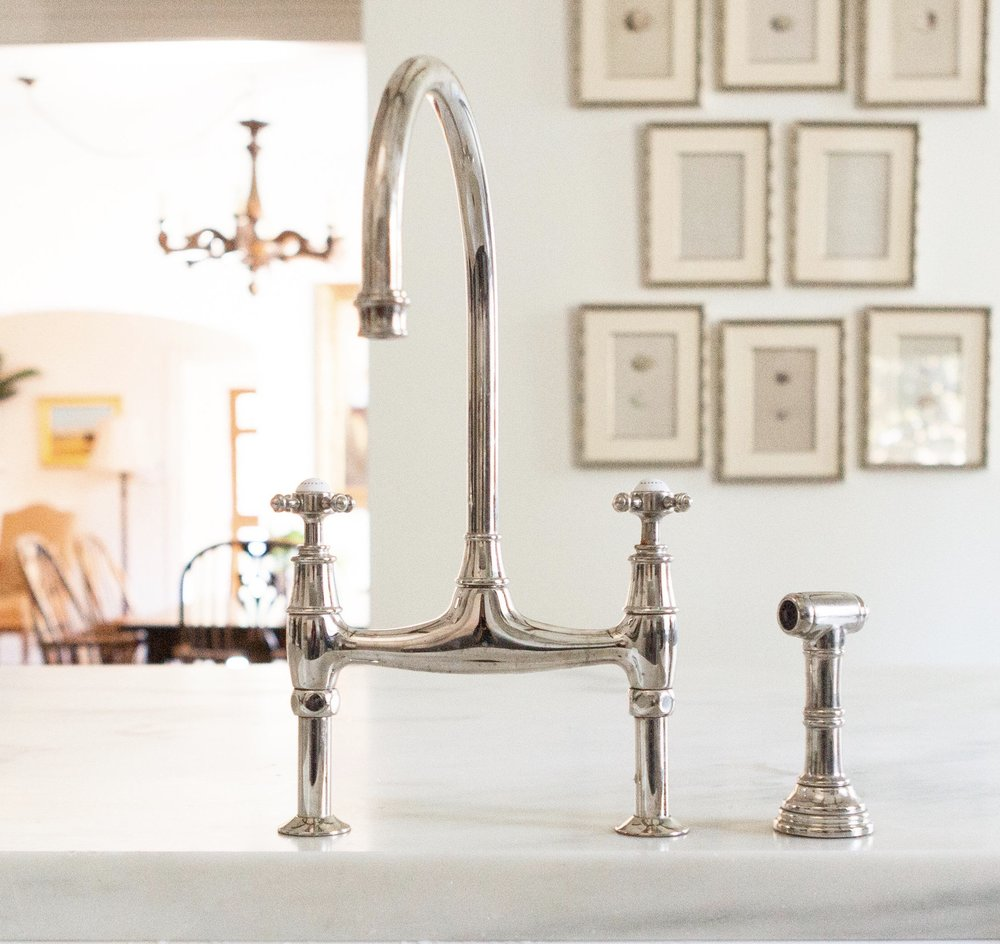 rowe gold rohl shop deck faucets and bridge kitchen handle english perrin mount pd faucet