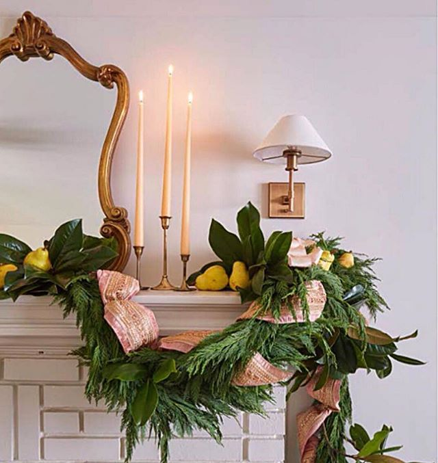 #tbt to our #clermontproject  So thrilled this special home was included in the December issue of @southernlivingmag If you are looking for holiday inspiration, grab a copy!  #Repost @liltflorals (@get_repost) ・・・ One of my favorites from this shoot with @southernlivingmag was this mantle. I love this ribbon and those candles. (Those also are the tapers from @shoppebham like the olive ones a lot of you were asking about)  Produced by @rachaelburrow Photographer @hectormsanchezphoto