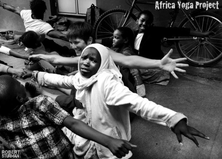 In any given moment, there is the presence of pain and joy. Here, a yoga class at Mama Fatuma Goodwill Children's Home in Nairobi, Kenya