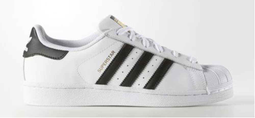 Adidas, Womens Originals Superstar Shoes, $80;  Adidas.com