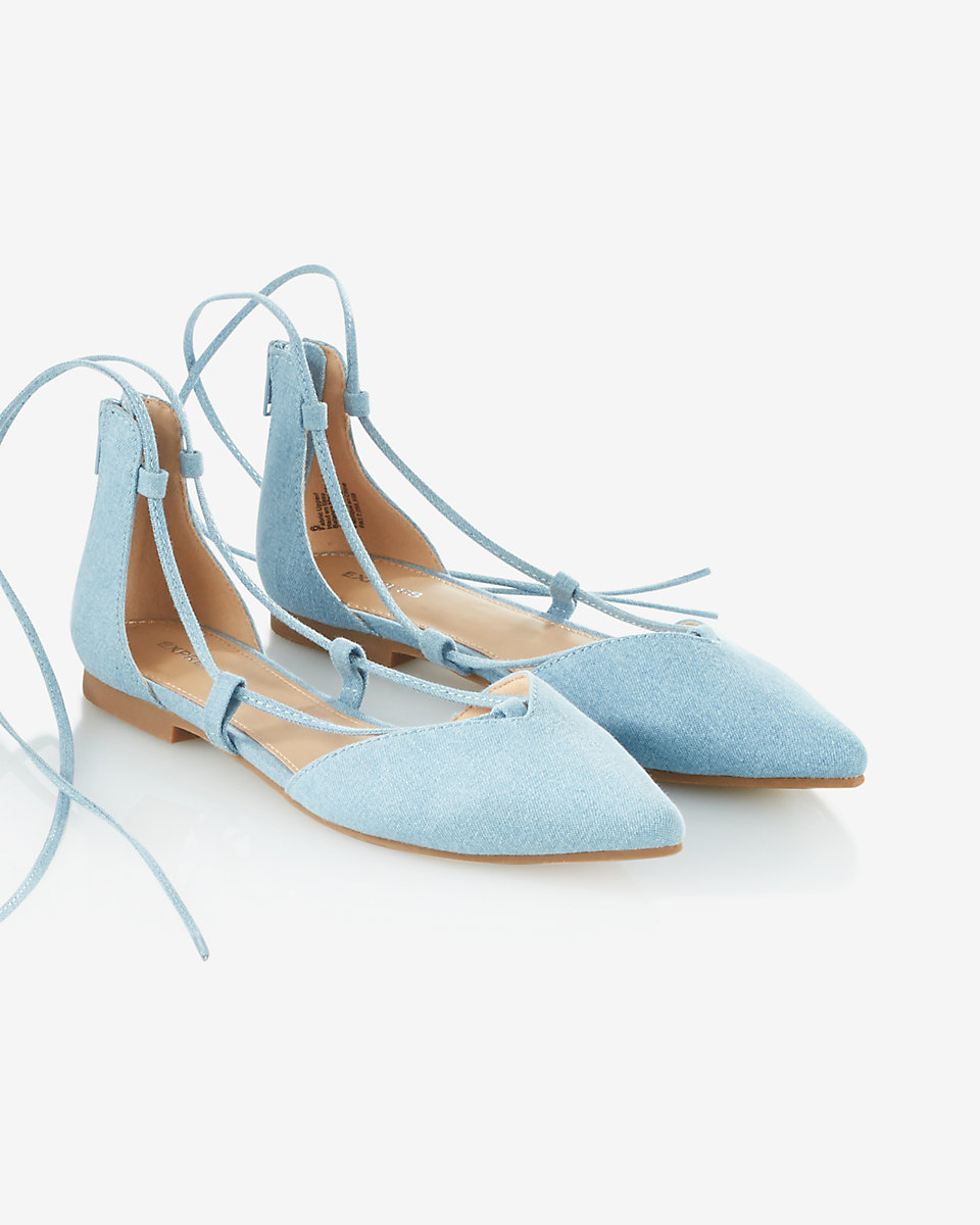 Nothing says spring like baby blue—these flats will freshen up your basic jeans-and-tee combo.  Express,$39.90, express.com.