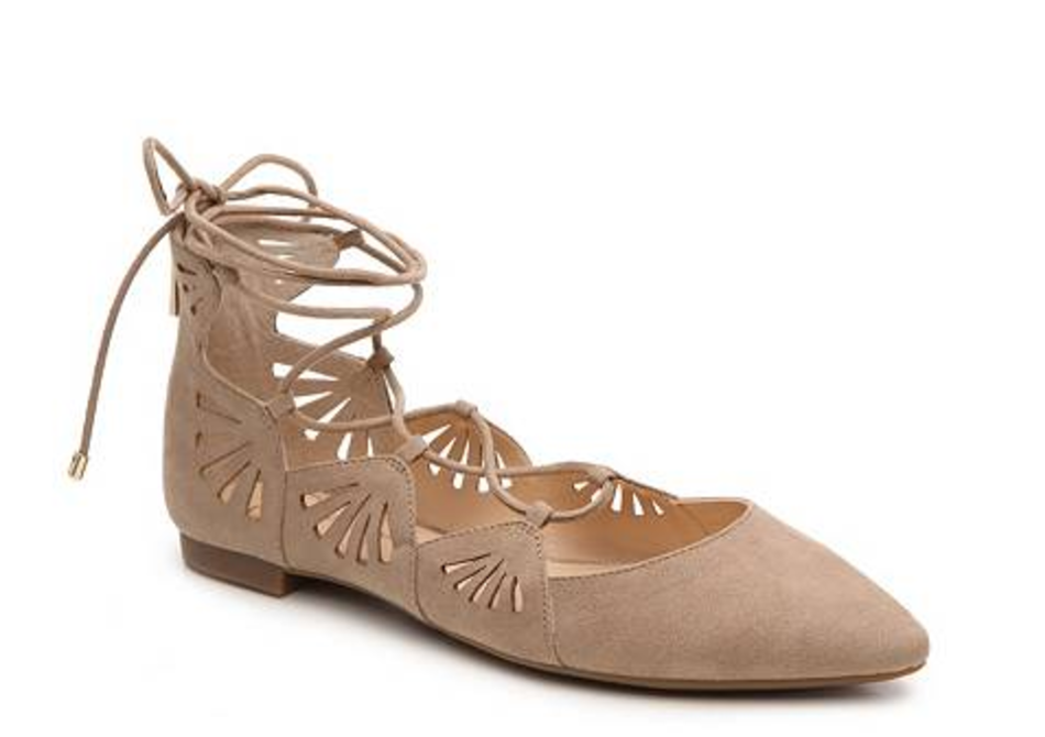 We love these with your favorite pair of light wash jeans.  Jessica Simpson, $49.95, dsw.com.