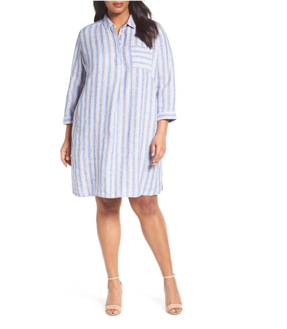 Calson Stripe Linen Shirtdress, $89, nordstrom.com