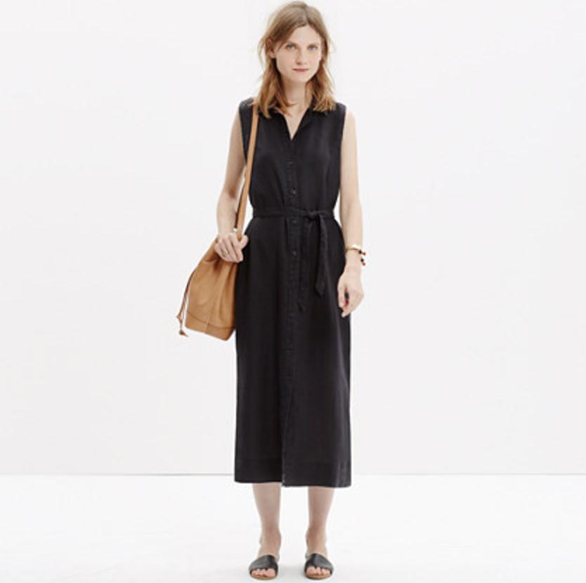 Madewell Linen Maxi Shirtdress, $148,  madewell.com