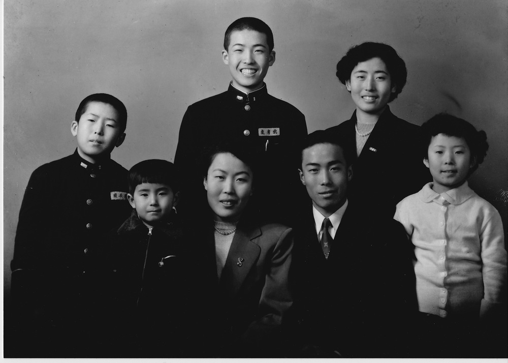 With his family in Seoul, circa 1955