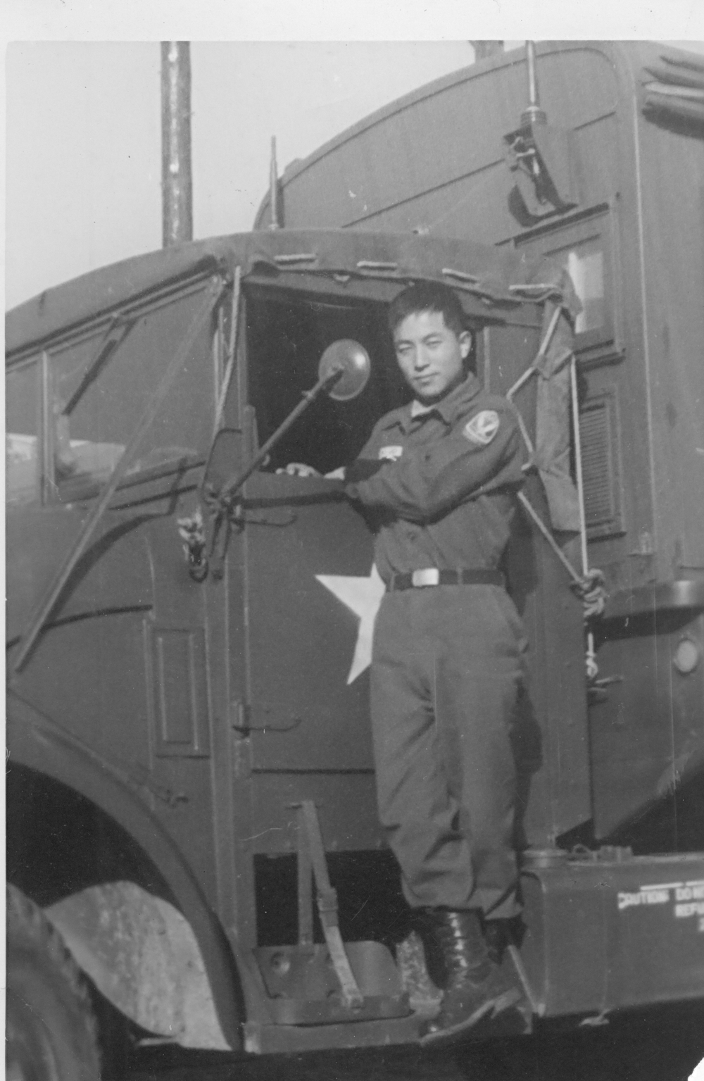 Serving in the U.S. 8th Army headquarters as an attached Korean soldier