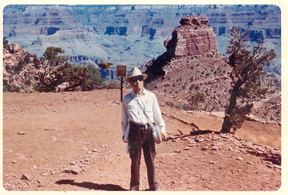 At the Grand Canyon, 1964