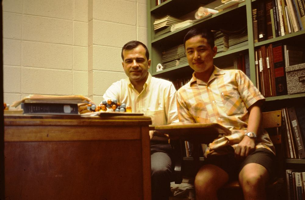 With Professor Melius at Auburn University, 1964
