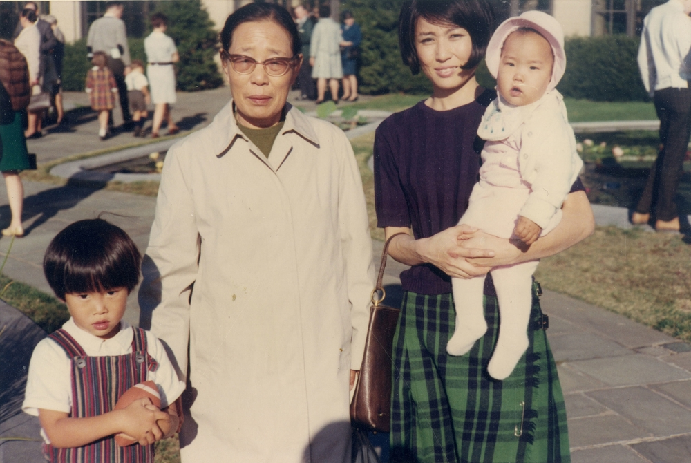 Her mother's first visit to the U.S., 1968