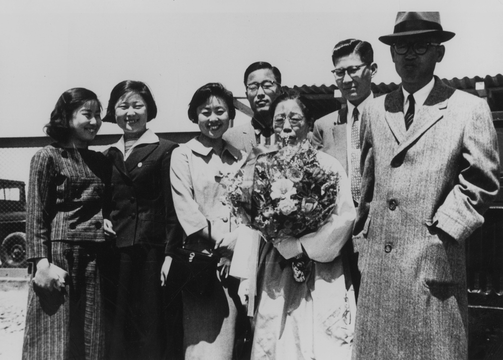 With her family in Seoul, 1960s