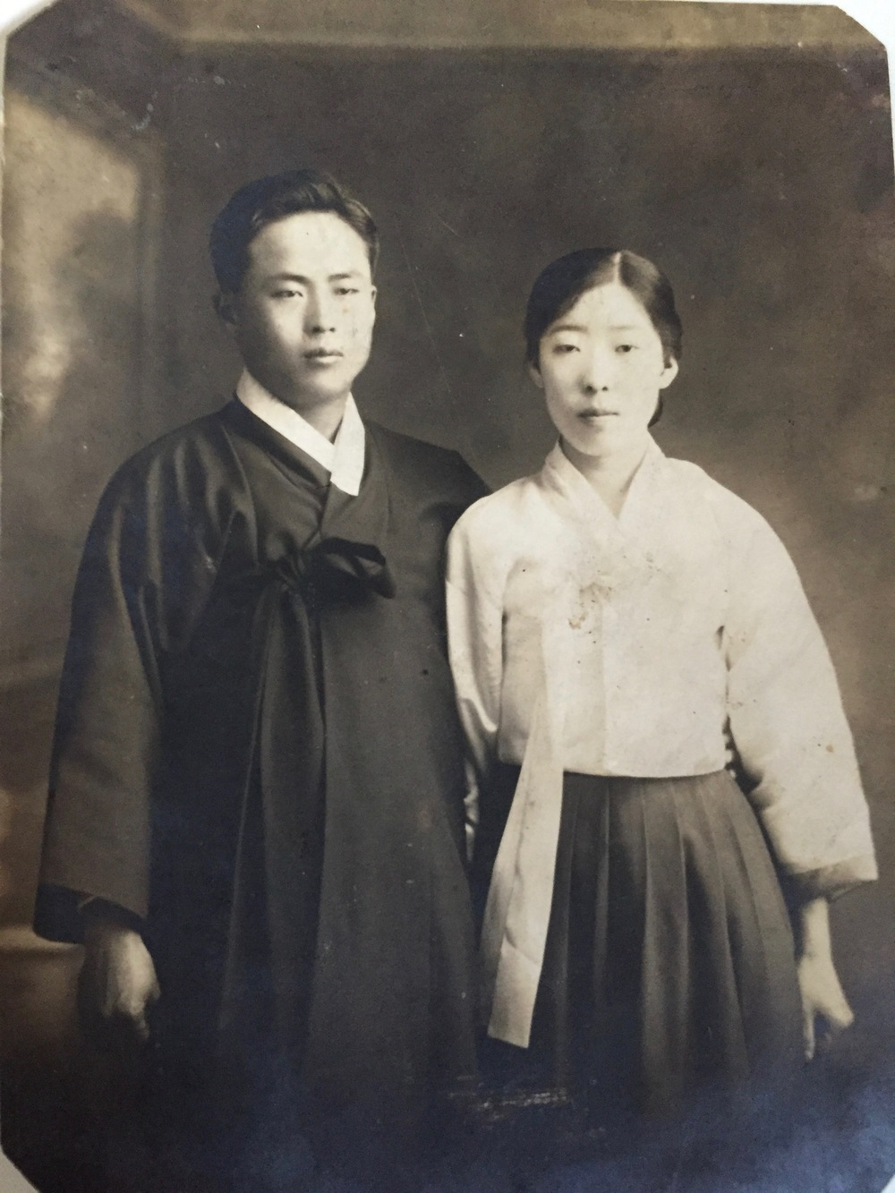 Kook Dong Pae's parents on their wedding day
