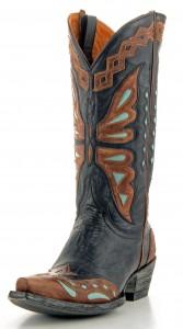 Women's Old Gringo Monarca Boots Volcano Black #L026-36