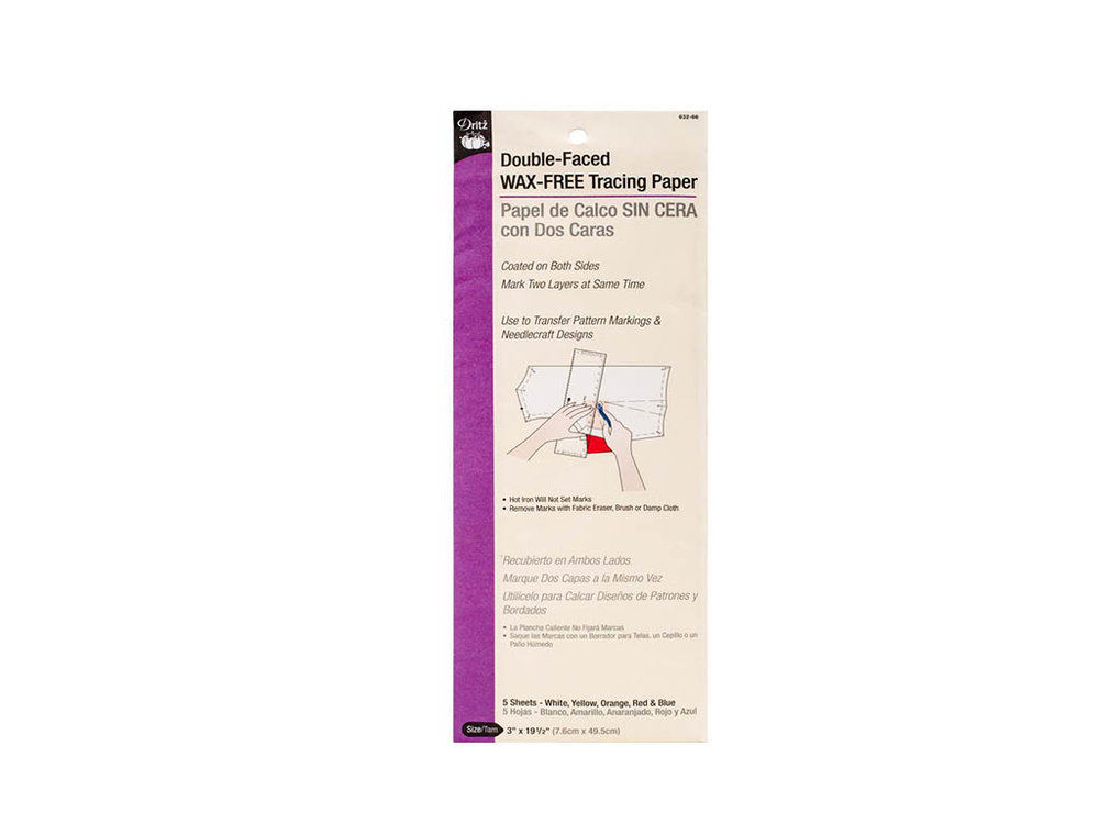 Bowman Sewing Lab Dritz Double Faced Tracing Paper 5 Sheets