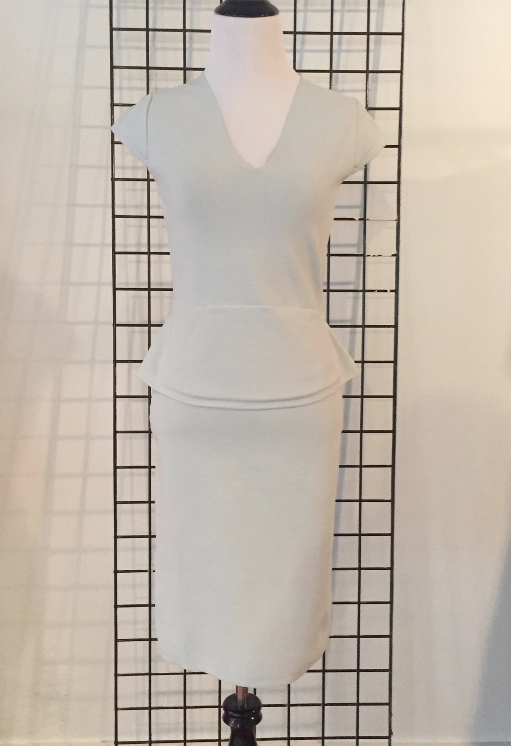 This Narciso Rodriguez silver-blue knit dress is a new arrival at Top Drawer.  It's new with tags and is a size 42 (or US 6).