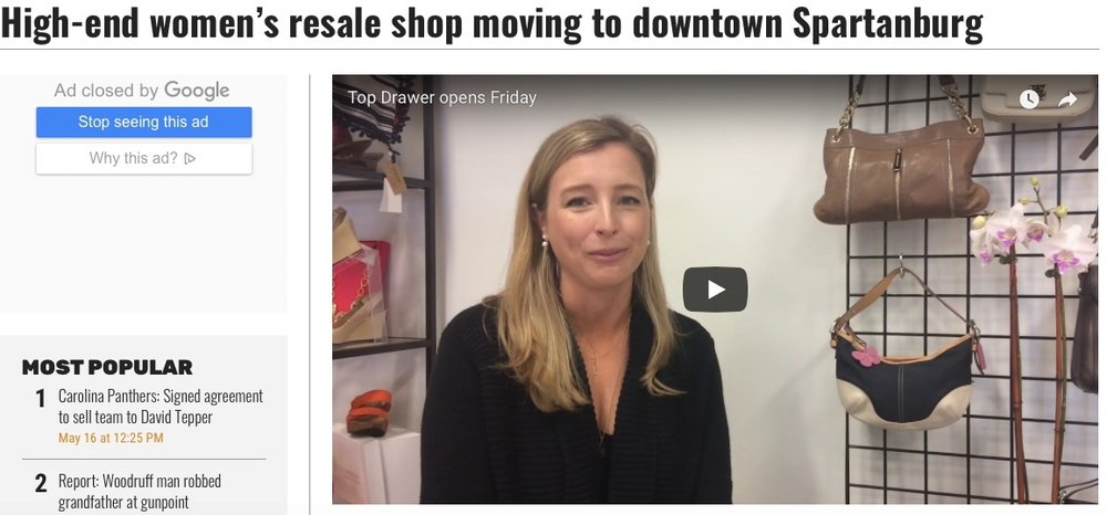 Goupstate.com coverage of our downtown opening.