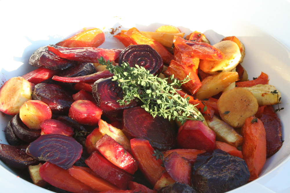 Roasted Root Vegetables with Sherry Glaze