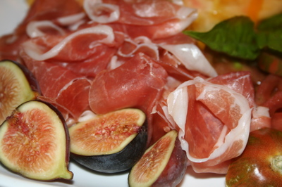 Cured Meats with Fresh Fruits