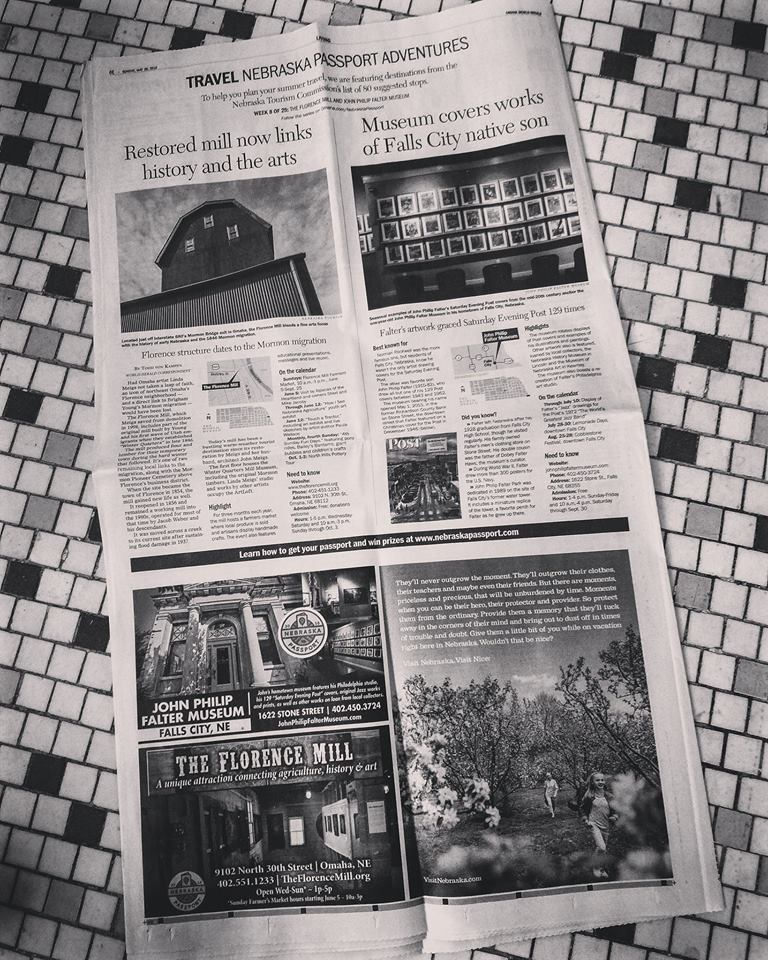 Omaha World Herald feature ad for the Nebraska Passport (click to view)