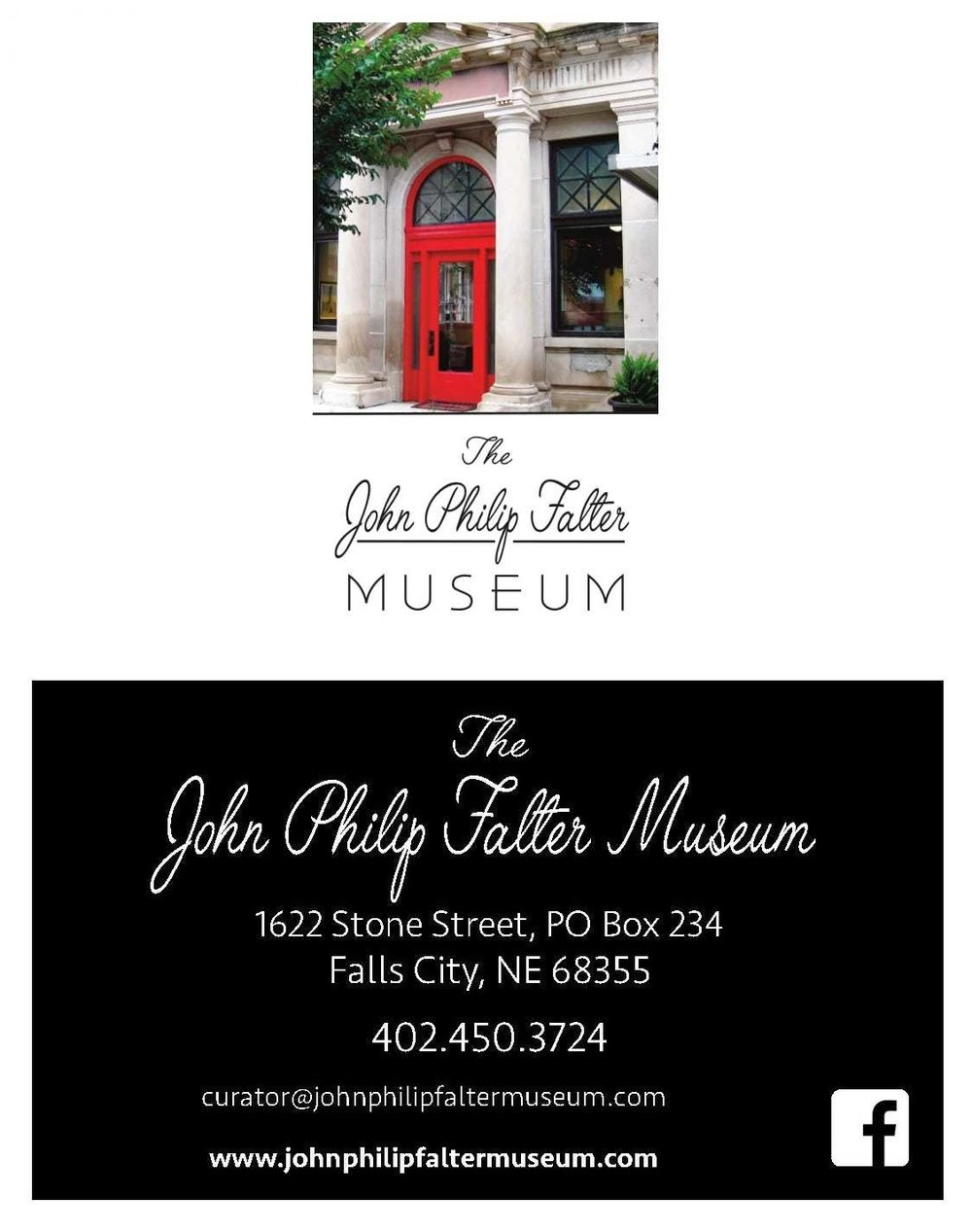 Museum Business Cards (designed by Wolfe's Printing - Falls City, NE)