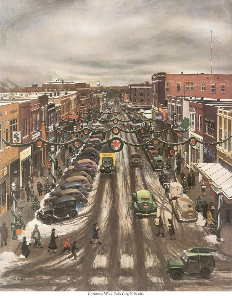 Falls City Christmas print