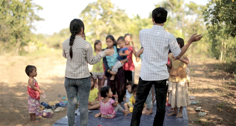 Believers in Cambodia singing songs to Jesus.