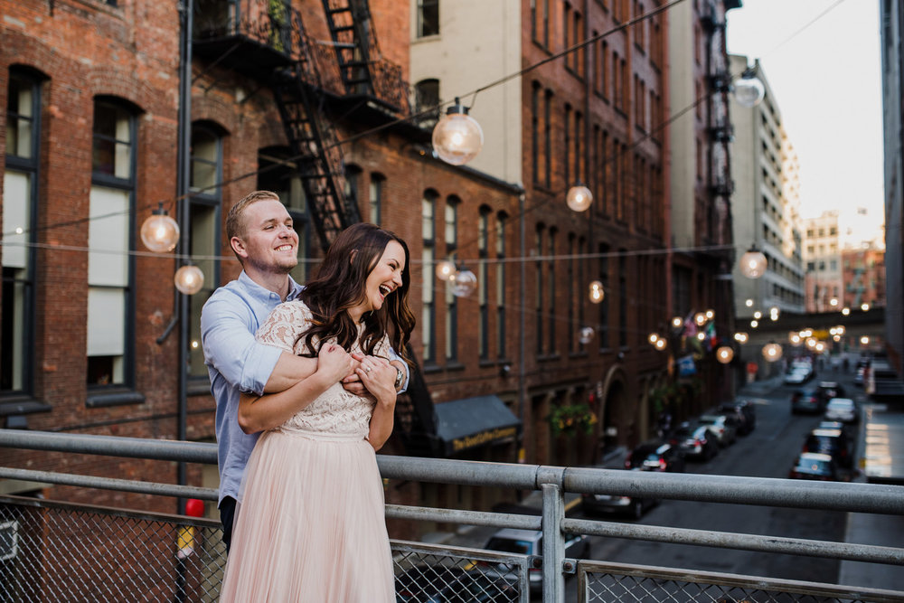 Engagement  |   Lauren + Kevin | Pioneer Square, Seattle