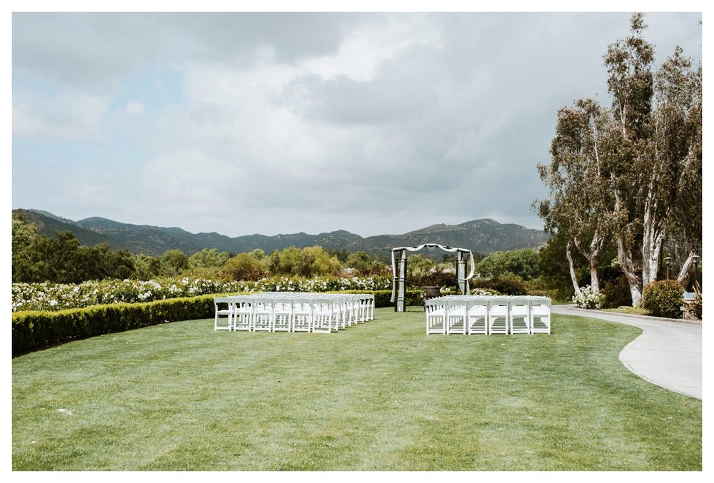 The wedding lawn at Twin Oaks Golf Course