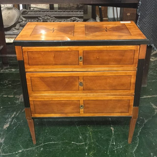 Period Biedermeier diminutive chest.  Excellent condition. #beautiful  #athideaway