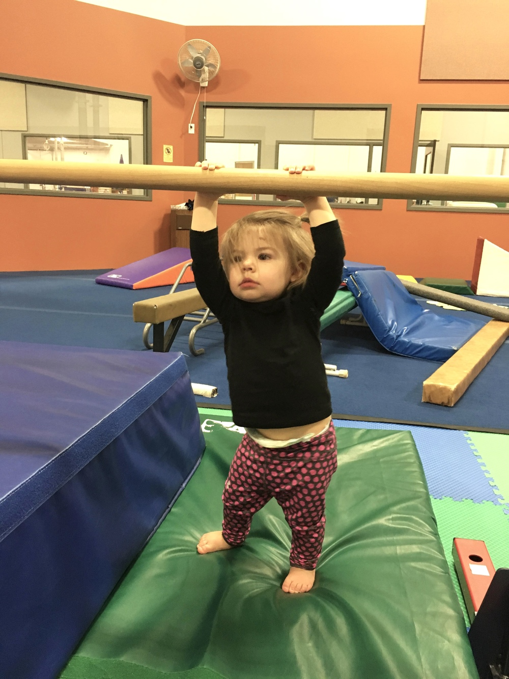 Savi at her 1st day of gymnastics!