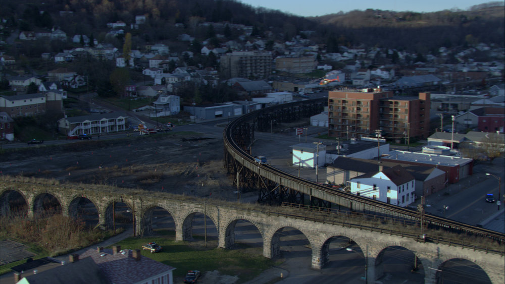 B & O Railroad Viaduct, Bellaire, Ohio.