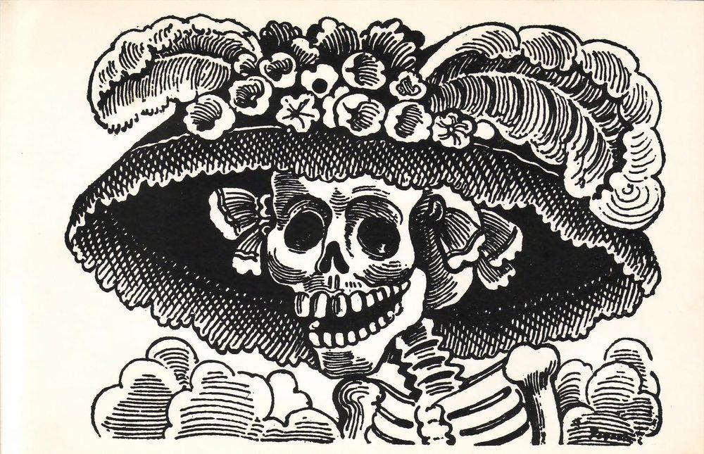 La Calavera de la Catrina (1910-1913) di José Guadalupe Posada.