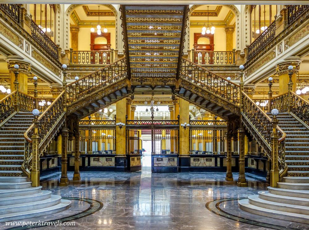 Palacio de Correos, Città del Messico. Foto di www.peterktravels,com