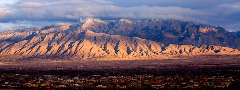 Le Montagne Sandia, Albuquerque.