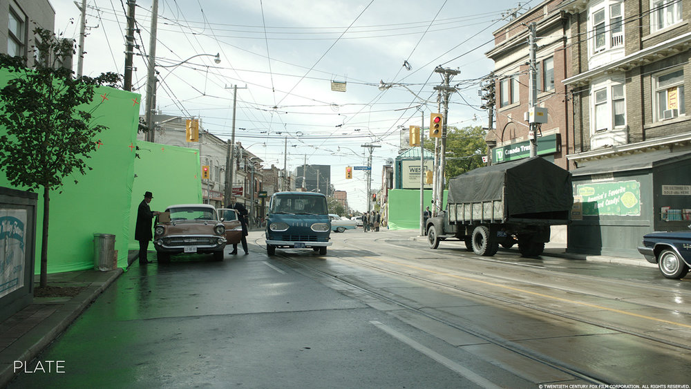 Toronto, angolo tra Dundas street e Ossington street. Immagine con effetti visivi. Da: www.artofvfx.com