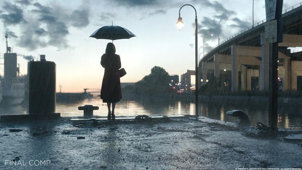 """""""The Shape of Water""""  (2017). Immagine con effetti visivi. Da: www.artofvfx.com"""