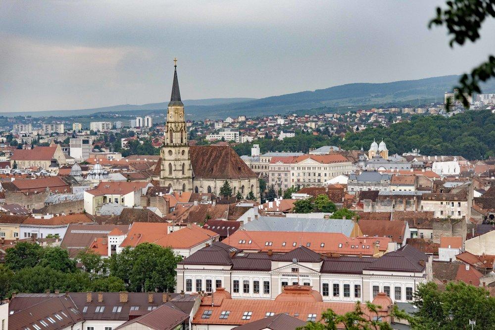 Cluj-Napoca dall'alto. Foto di Valerio Greco.