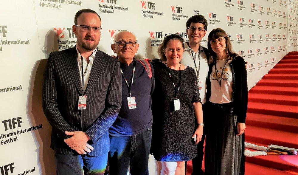Il team di Movietravel al TIFF. Foto scattata dal presidente del festival Tudor Giurgiu
