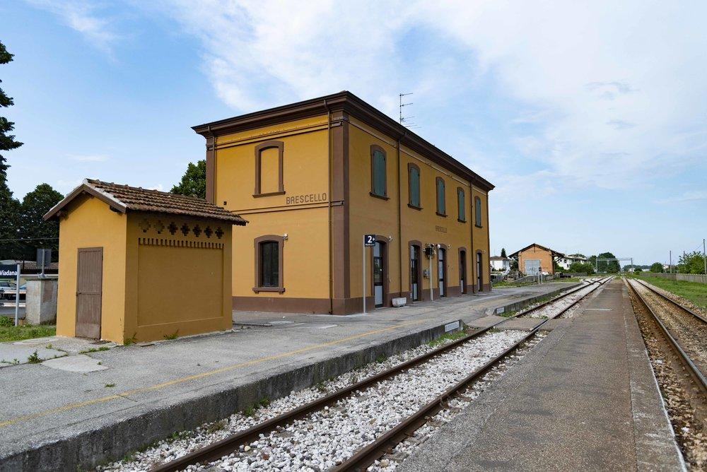 Stazione ferroviaria di Brescello. Foto di Valerio Greco