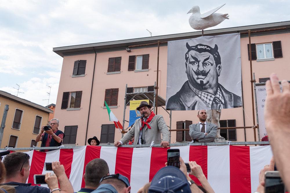 Il Comizio di Peppone. Foto di Valerio Greco
