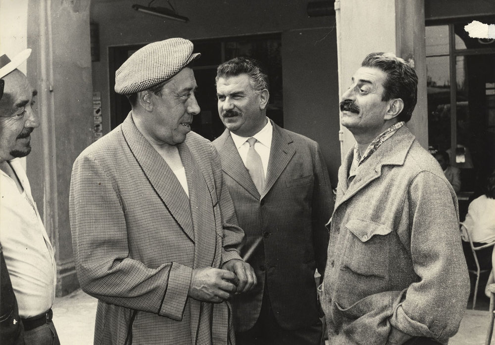 Fernandel, Gino Cervi e Giovannino Guareschi.