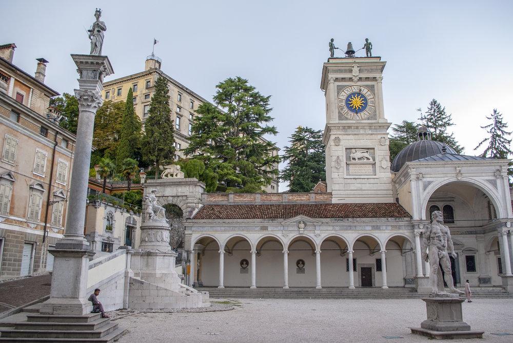Piazza della Libertà, torre dell'orologio, Udine. Foto di  Stefano Merli