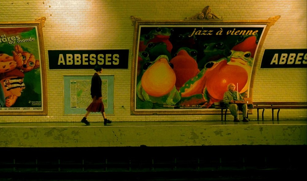 Audrey Tautou in  Il favoloso mondo di Amélie  (2001) di Jean-Pierre Jeunet - Paris