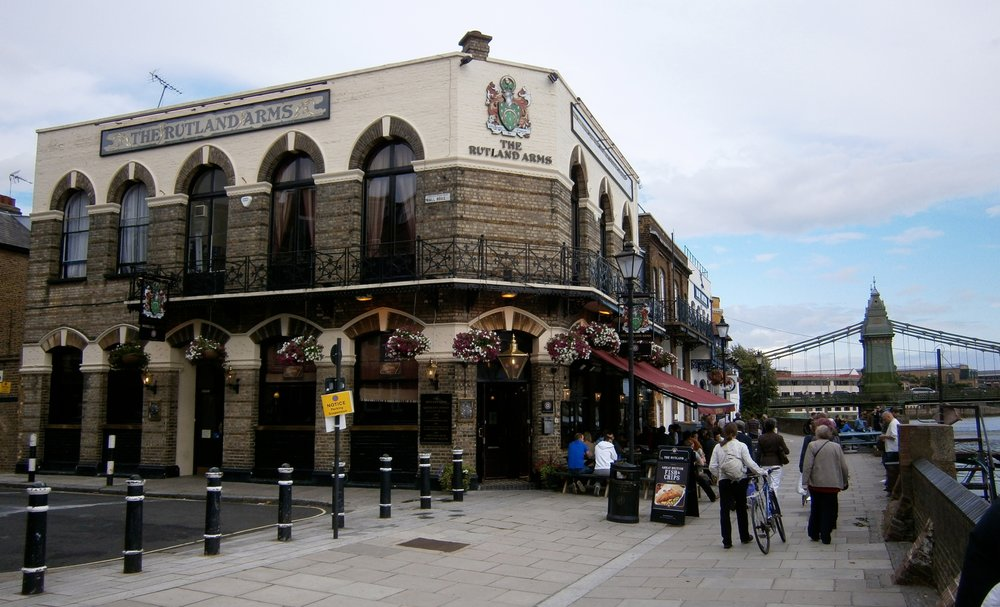 Rutland Arms, 15 di Lower Mall, Hammersmith, London. Foto di R. N. Foster