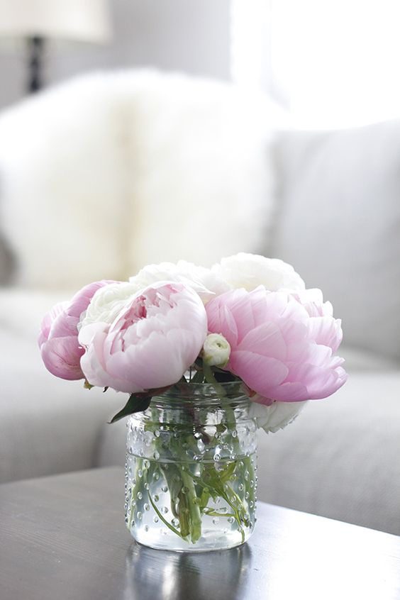 Nothing says serenity like a vase full of peonies