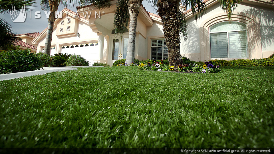 Synlawn on an entire front yard